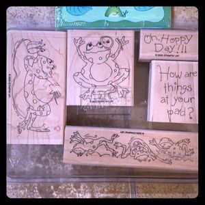 Stampin up 2005 Frog set and stickers